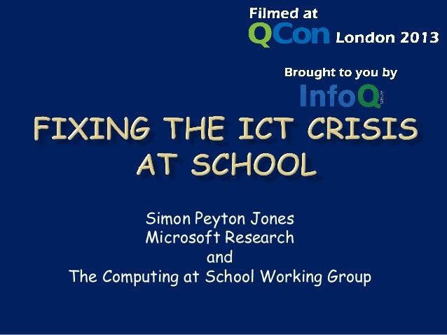 Simon Peyton Jones        Microsoft Research                 andThe Computing at School Working Group