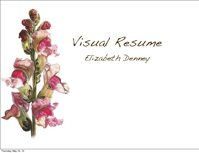 Visual ResumeElizabeth DenneyThursday, May 16, 13