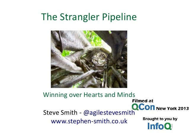 Winning over Hearts and Minds Steve Smith - @agilestevesmith www.stephen-smith.co.uk The Strangler Pipeline