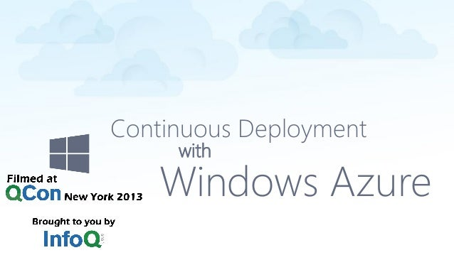 Continuous Deployment with Windows Azure