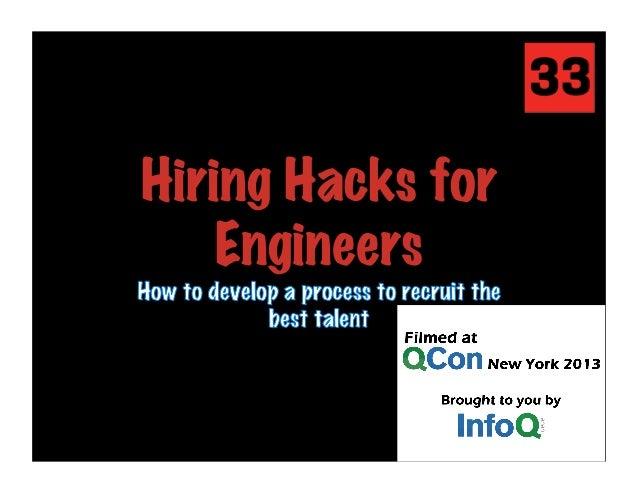 Hiring Hacks for Engineers
