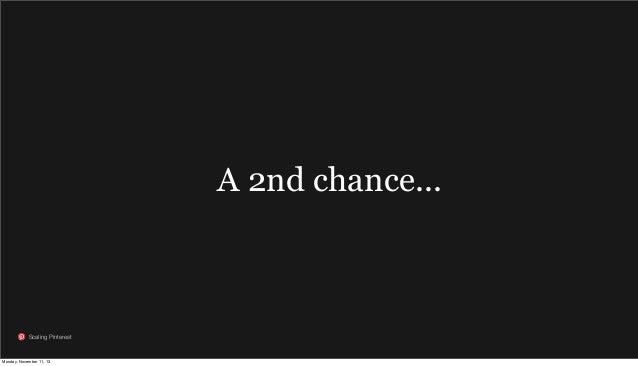 A 2nd chance...  Scaling Pinterest  Monday, November 11, 13