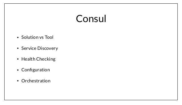 consul service oriented at scale