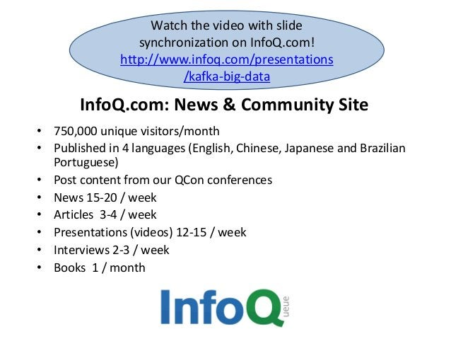 InfoQ.com: News & Community Site • 750,000 unique visitors/month • Published in 4 languages (English, Chinese, Japanese an...