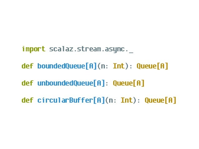 trait Signal[A] { ... def get: Task[A] def set(a: A): Task[Unit] ... }