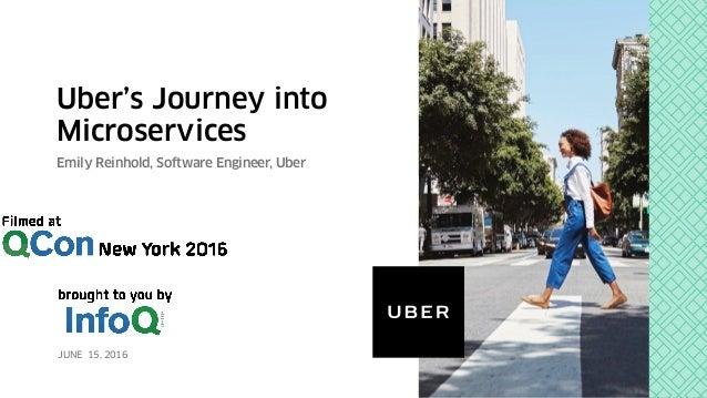 Uber's Journey into Microservices Emily Reinhold, Software Engineer, Uber JUNE 15, 2016
