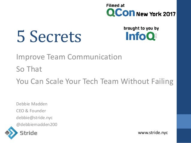 The Top 5 Secrets to Improving Team Communication