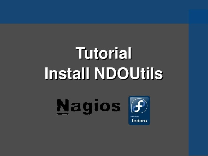 Tutorial Install NDOUtils
