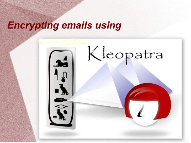 Encrypting emails using