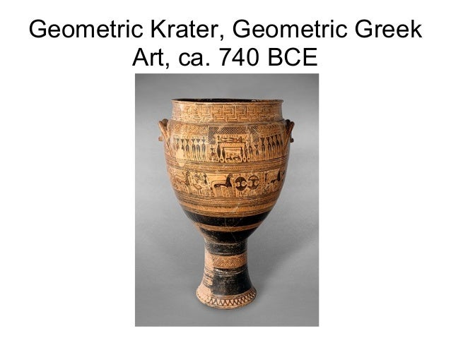 Geometric Krater, Geometric Greek Art, ca. 740 BCE