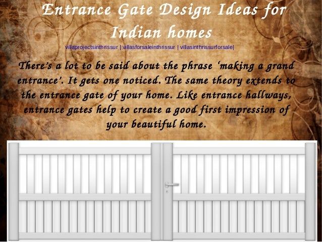 Entrance Gate Design Ideas For Indian Homes