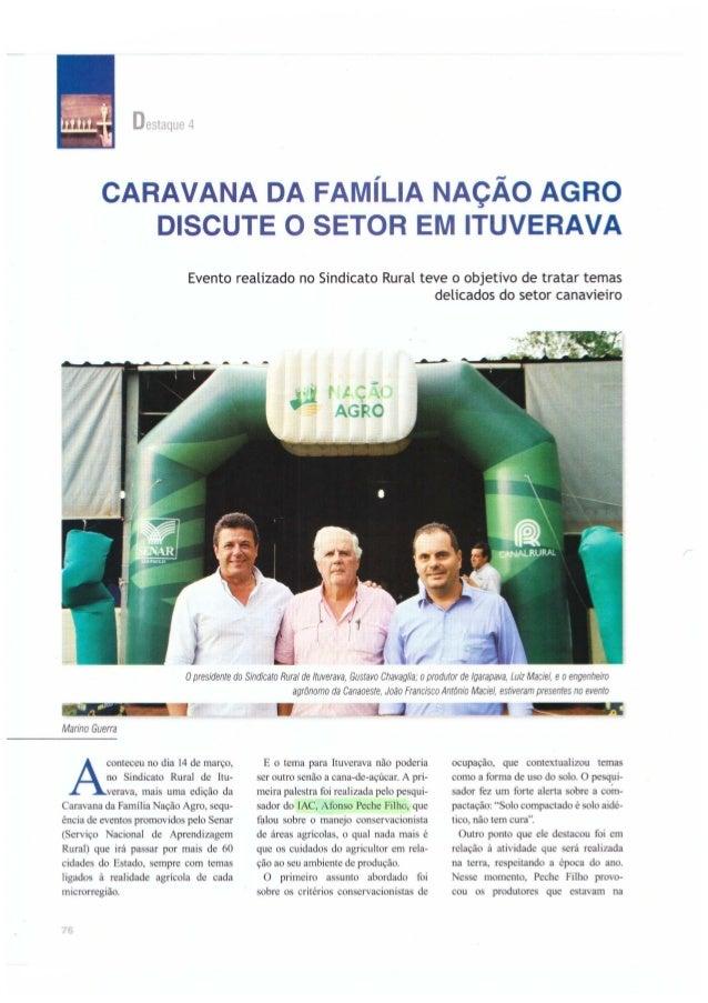 Caravana da família nação agro discute o setor em Itupeva