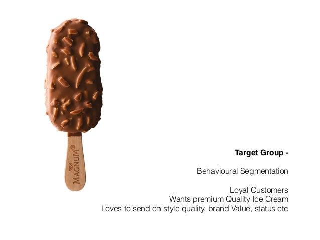 magnum ice cream target market