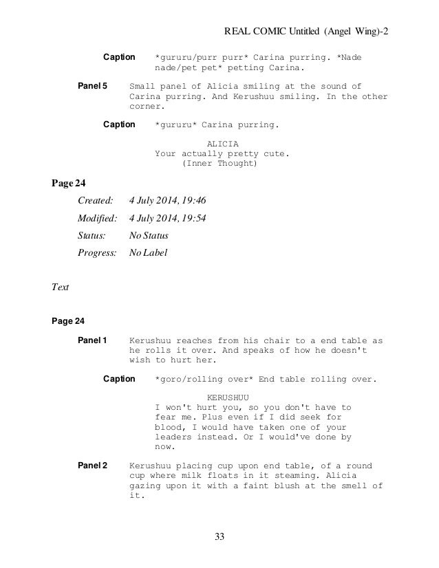Untitled Angel Wing New Chapter One Rough Draft Script