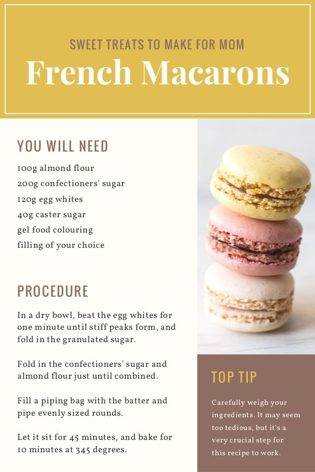 French Macarons Recipe