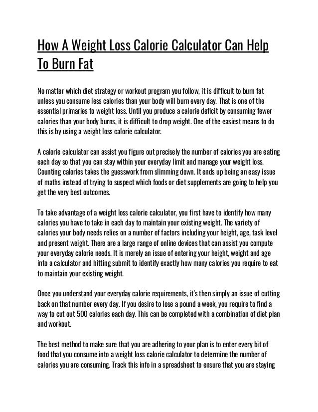 """Weight Loss Calorie Calculator..This Super Simple Morning Habit """"Acci…"""