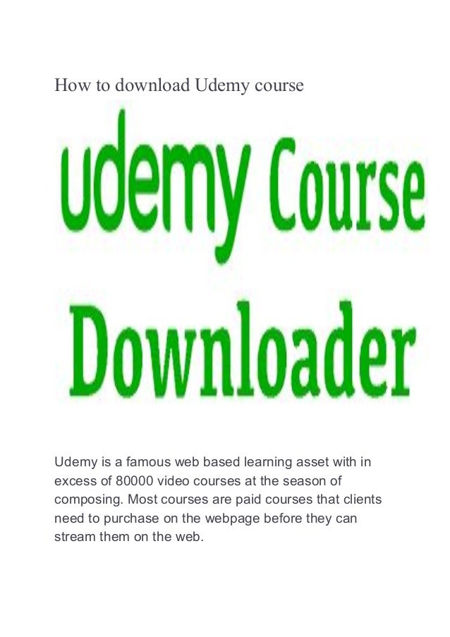 Udemy courses