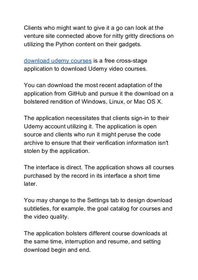 Udemy Downloader Github