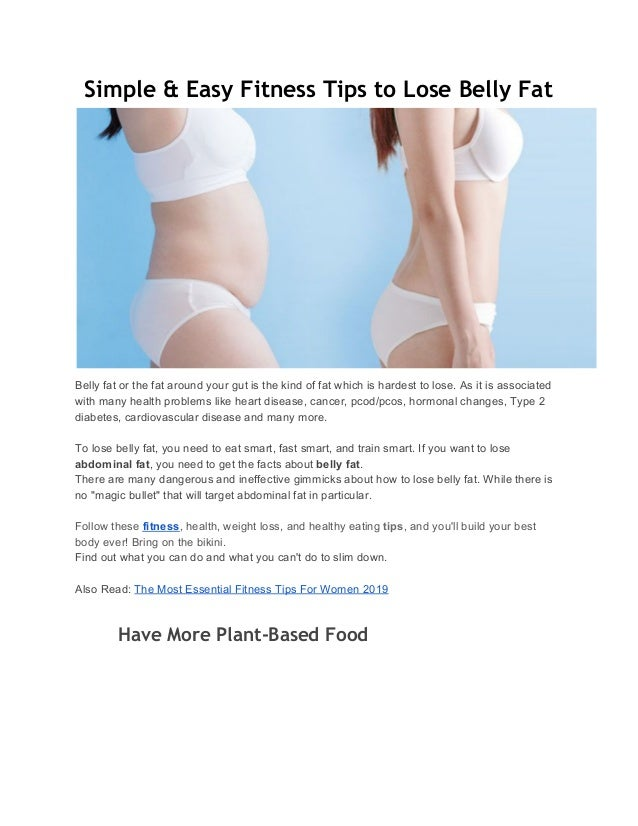 How can we lose stomach fat