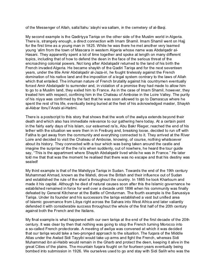 THE LEGALISATION OF DEVIATION TASAWWUF SHAYKH ABDALHAQQ BEWL