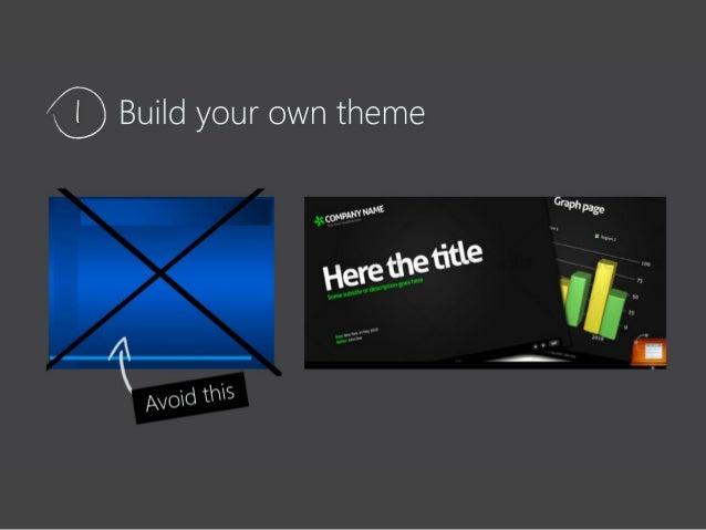 Tips For Designing A Presentation