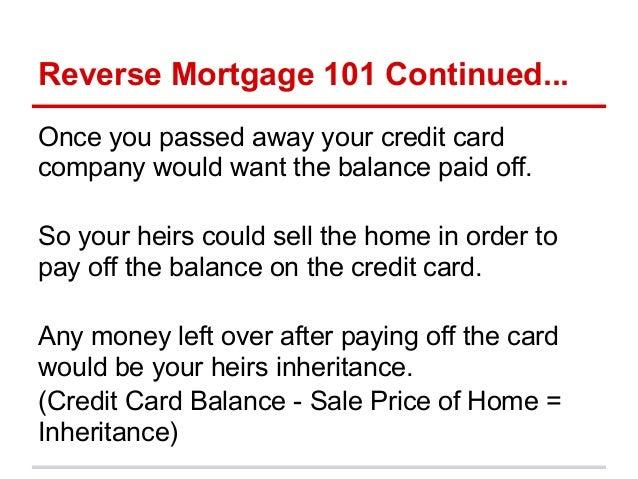 Reverse Mortgage 101 Slide 3