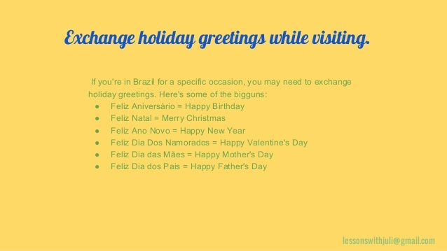 Easy brazilian portuguese 14 lessonswithjuligmail exchange holiday greetings m4hsunfo