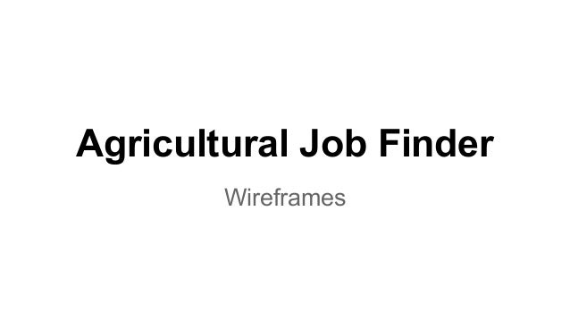 Agricultural Job Finder Wireframes