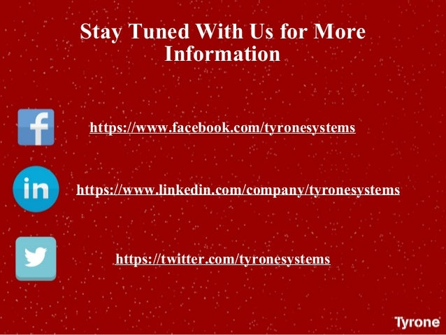 Stay Tuned With Us for More Information https://www.facebook.com/tyronesystems https://www.linkedin.com/company/tyronesyst...