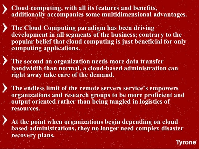 Cloud computing, with all its features and benefits, additionally accompanies some multidimensional advantages. The Cloud ...