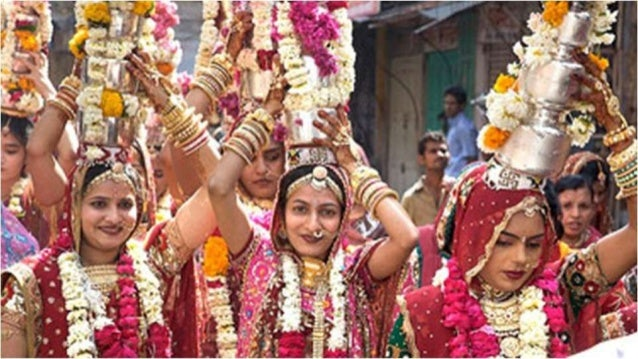 Gangaur Mela Throughout the 18 days period fairs known as Gangaur Mela held