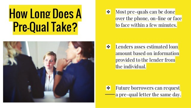 How Long Does It Take To Prequalify For Home Loan Home