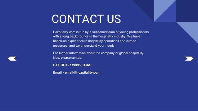 10 hots hospitality jobs in the world