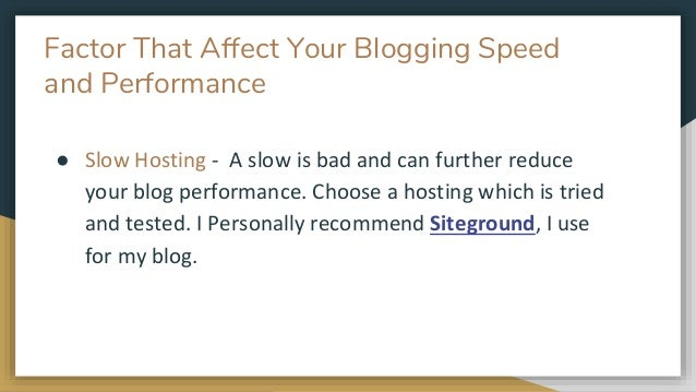 Some Stats And Facts About Slow WordPress blog; 4.