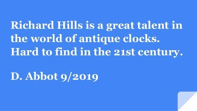 Hills Clock Shop Testimonials Slide 3