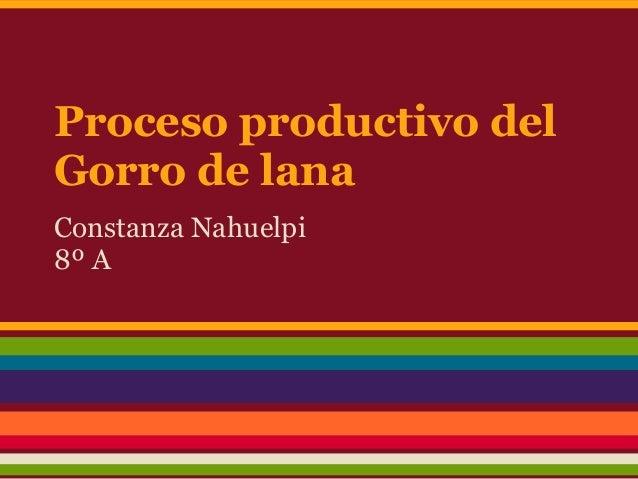 Proceso productivo delGorro de lanaConstanza Nahuelpi8º A