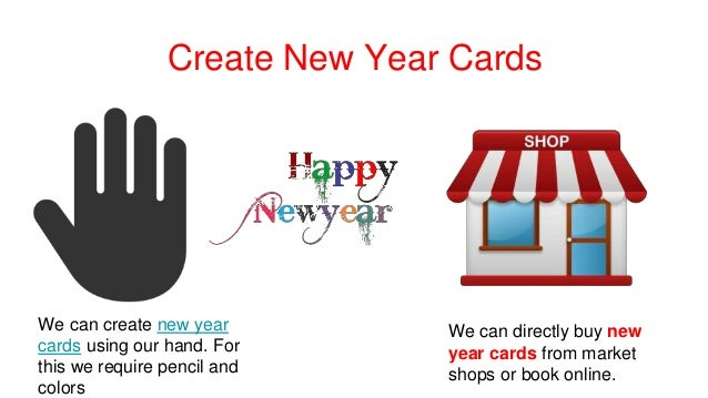 create new year cards