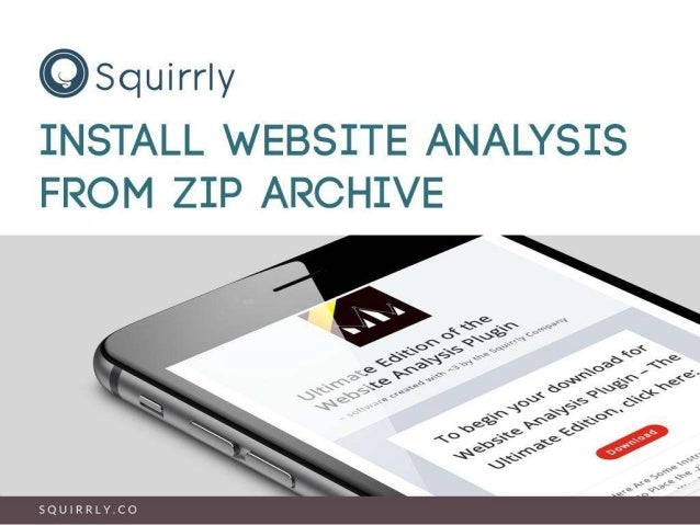 Install Website Analysis from ZIP Archive
