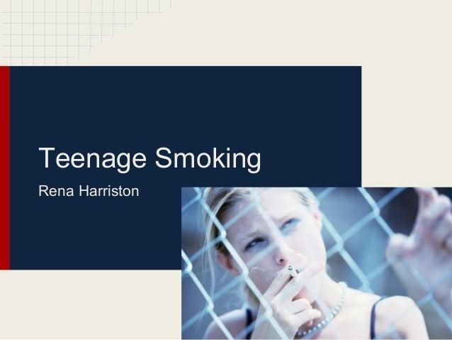 Teenage SmokingRena Harriston