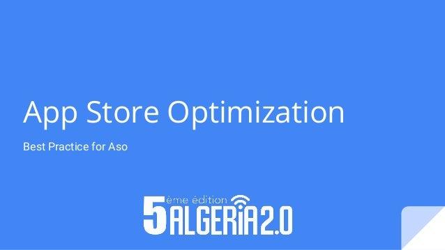 App Store Optimization Best Practice for Aso
