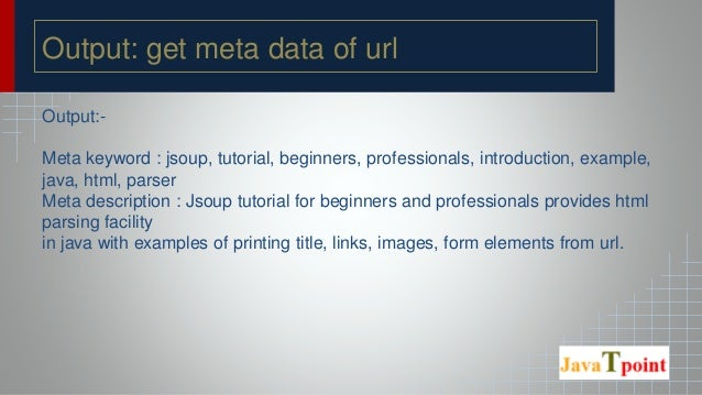 Jsoup Tutorial for Beginners - Javatpoint
