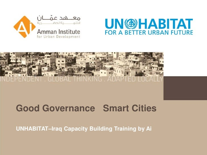 Good Governance Smart CitiesUNHABITAT–Iraq Capacity Building Training by Ai