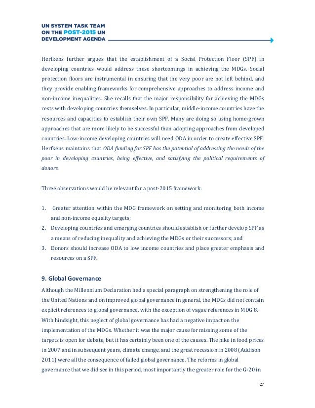 27Herfkens further argues that the establishment of a Social Protection Floor (SPF) indeveloping countries would address t...