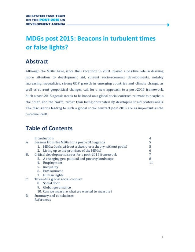 3MDGs post 2015: Beacons in turbulent timesor false lights?AbstractAlthough the MDGs have, since their inception in 2001, ...