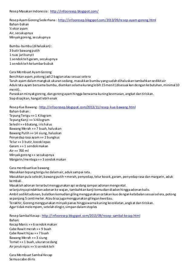 ResepMasakanIndonesia: http://infooresep.blogspot.com/ ResepAyamGorengSederhana: http://infooresep.blogspot.com/2013/09/re...