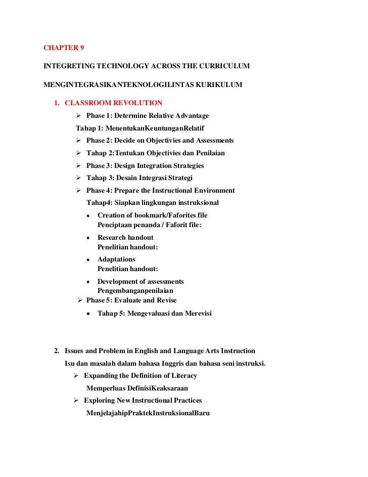 CHAPTER 9INTEGRETING TECHNOLOGY ACROSS THE CURRICULUMMENGINTEGRASIKANTEKNOLOGILINTAS KURIKULUM  1. CLASSROOM REVOLUTION   ...