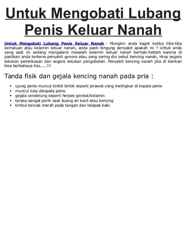 Untuk Mengobati Lubang Penis Keluar Nanah Untuk Mengobati Lubang Penis Keluar Nanah - Mungkin anda kaget ketika tiba-tiba ...