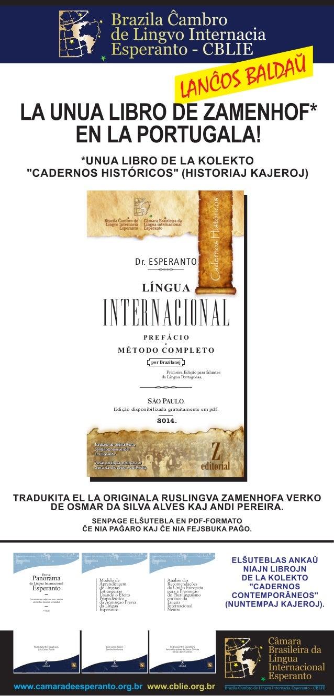 INTERNACIONAL LÍNGUA Dr. ESPERANTO e por Brazilanoj M É TO D O C O M P L E TO P R E F Á C I O Primeira Edição para falante...