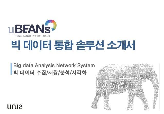 빅 데이터 통합 솔루션 소개서  Big data Analysis Network System  빅 데이터 수집/저장/분석/시각화