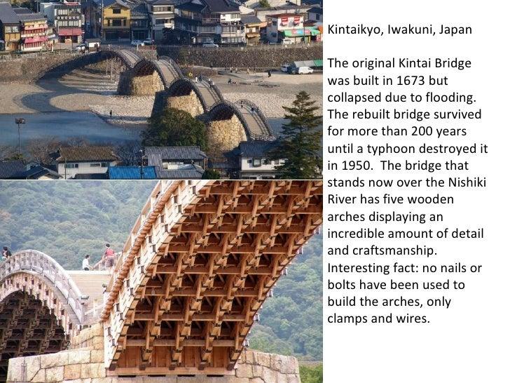 Kintaikyo, Iwakuni, Japan The original Kintai Bridge was built in 1673 but collapsed due to flooding.  The rebuilt bridge...